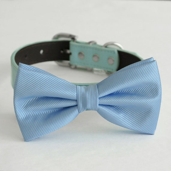 Navy Red bow tie Navy Lace bow tie dog collar blue Black Gray Brown Ivory White or Navy Leather dog collar Girl dog collar,Key heart charm