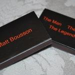 25 Custom Designed Matchbox Birthday Favors - The Man The Myth The Legend