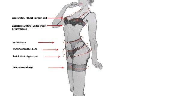 Waist Panty Dessous /& Lingerie Agathe Black lace with a garter belt straps suspender and garter belts