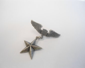 1 Silverplated Air Force Pilot Wing Pin