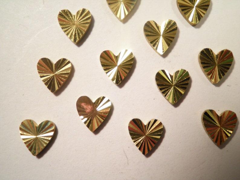 14 Brass Diamond Cut Hearts