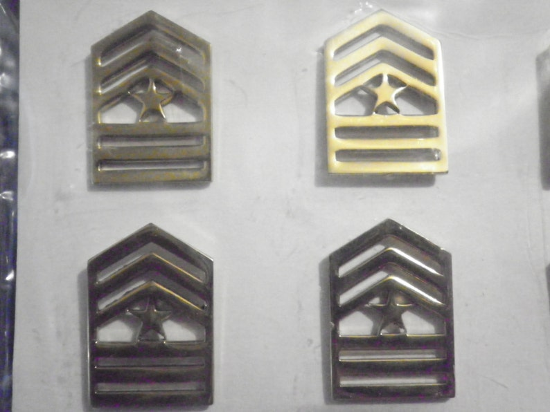 2 Prs Goldplated U.S Army Sergeant Major Badges