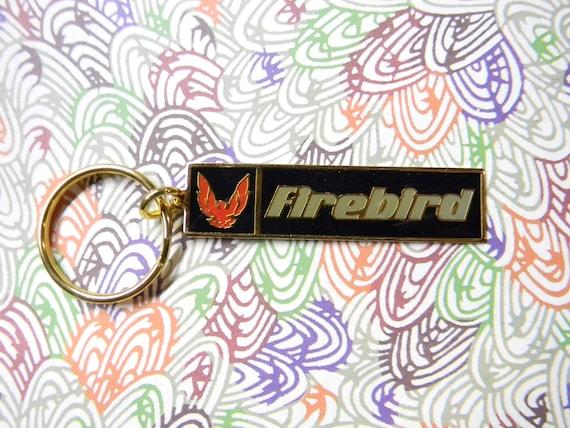 Pontiac Firebird Keychain Vintage GM Key Chain General Motors Key Fob Metal