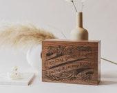 I Carry Your Heart E.E. Cummings Wood Keepsake Box [Wedding Box/Memory Box/Love/Anniversary/Valentine's/Personalized Custom Gift]