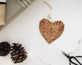 Tandem Bike Laser Cut Wood Ornament Christmas//Holiday//Love//Personalized Available//Anniversary//Newlyweds//Keepsake