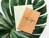 Until the End Dinosaur Wood Love Card [Five Year, Fifth, 5th Anniversary / Custom Anniversary / Valentine's Day / Boyfriend / Girlfriend]