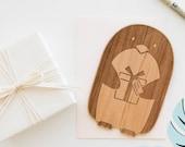 Penguin Shape Wood Birthday Card