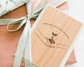 Your Love Helps Me Grow Wood Card - Happy Mother's Day, Laser Cut Wood Card