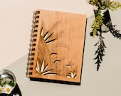 Birds of Paradise Wood Journal [Notebook, Sketchbook, Spiral Bound, Blank Pages, Gifts for Her]