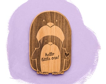 Hello Little One Baby Penguin Card