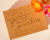 You Are My Sunshine Wood Keepsake Box [Personalized Custom Gifts, Anniversary, Wedding, Baby, Memory, Mother's Day]