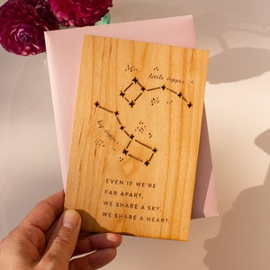 Big and Little Dipper constellation 6 blank cards The Bears North Star