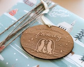 Our First Christmas as a Family 2019 Penguin Ornament - Holiday Gift, New Family, New Baby, First Time Parents