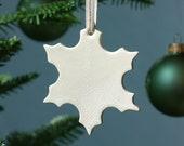 Half Baked Harvest x Etsy Ceramic Snowflake –  Cream Crackle Hand-Dipped Glaze [Holiday, Gift, Modern, Handmade, Stocking Stuffers]
