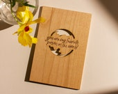 Favorite Person in the World Wood Card [Personalized Gifts, Custom Message, Love, Anniversary, Wedding, Birthday, Just Because]