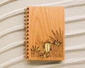 Desert Garden Wood Journal [Notebook, Sketchbook, Spiral Bound, Blank Pages, Gifts for Her, Valentine's Day]