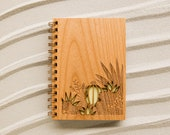 Desert Garden Botanical Wood Journal [Wood Notebook / Plant and Succulent Lovers / Blank Pages / Gratitude]
