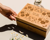 With You, I Am Home Wood Keepsake Box [Personalized Wedding Box / 5th, Fifth, Five Year Anniversary Gift / Wood Anniversary / Memory Box]
