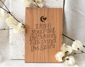 Beyond the Stars Wood Card [Personalized Gifts, Custom Message, Love, Anniversary, Wedding, Birthday, Just Because]