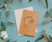 To the Moon and Back Wood Card [Love / Five Year, Fifth, 5th Anniversary / Custom Anniversary / Valentine / Boyfriend or Girlfriend]