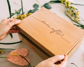 Ever After Wood Keepsake Box [Personalized Wedding Box / 5th, Fifth, Five Year Anniversary Gift / Wood Anniversary / Memory Box]