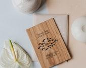 Plenty of Fish in the Sea Wood Card [Valentine's Day / Love / 5th Anniversary / Wood Anniversary / Custom Anniversary]