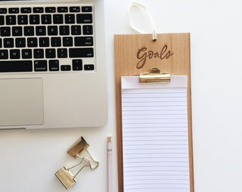 Goals Wood Clipboard