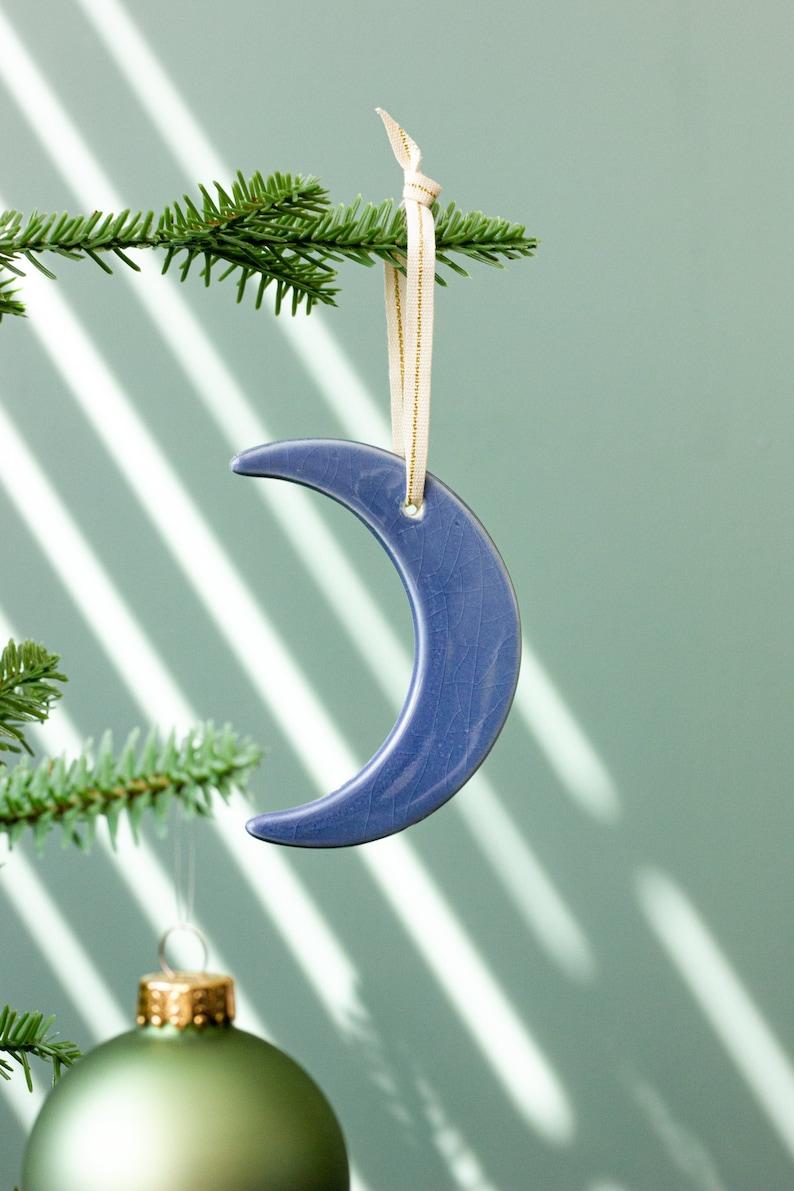 Half Baked Harvest x Etsy Ceramic Crescent Moon Ornament  image 0
