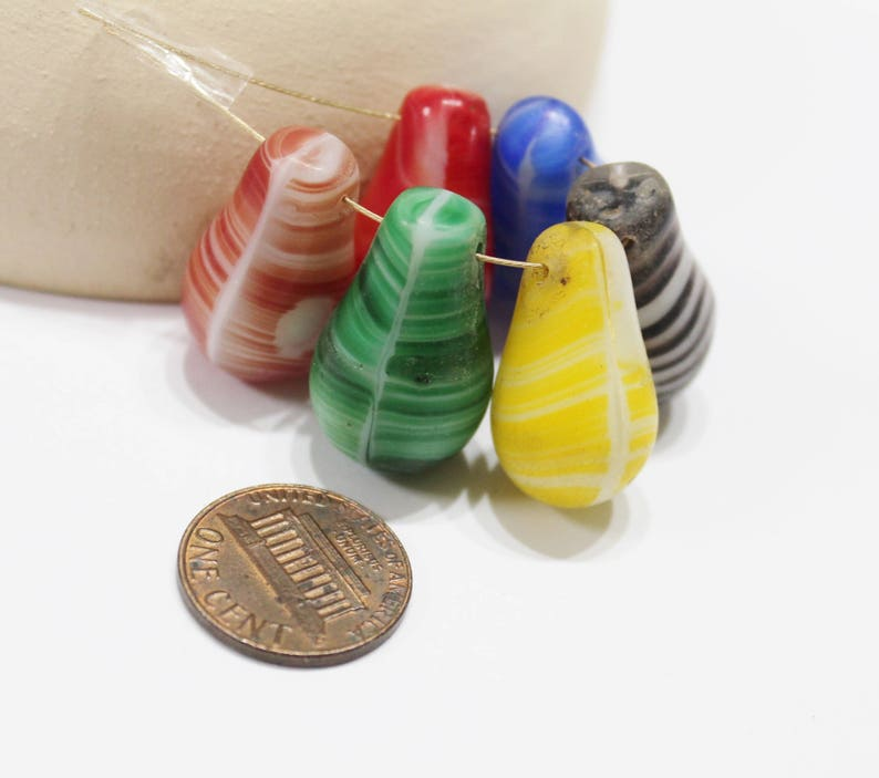 AP213 African Drop Beads Jewelry Supplies Colorful Bohemian Trade Beads