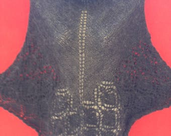 hand knitted poncho graphite