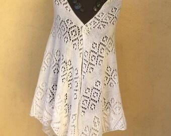 Extra large white shawl