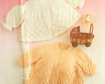 3968c03da UK EU SELLER Vintage pdf knitting pattern Matinee Jacket