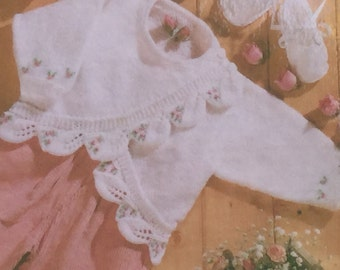 a1cd585bc UK EU SELLER Vintage pdf knitting pattern Baby Matinee Coat