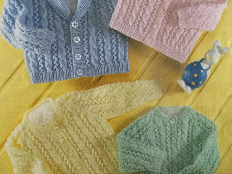 7a458b0c62c4 UK EU SELLER pdf Knitting Pattern cable cardy sweater 4