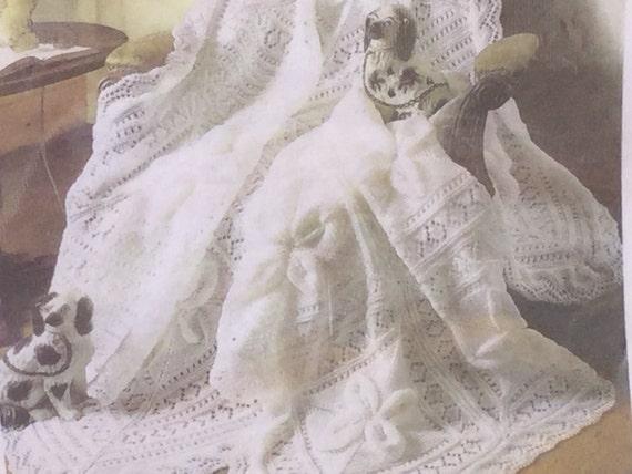 Ukeu Seller Stunning Heirloom Shawlblanket Pdf Knitting Etsy