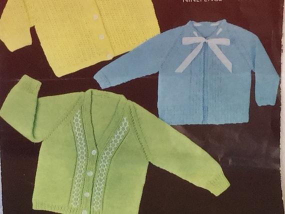 d0cfd6151 UK EU SELLER Vintage knitting pattern Baby choice of 3 x