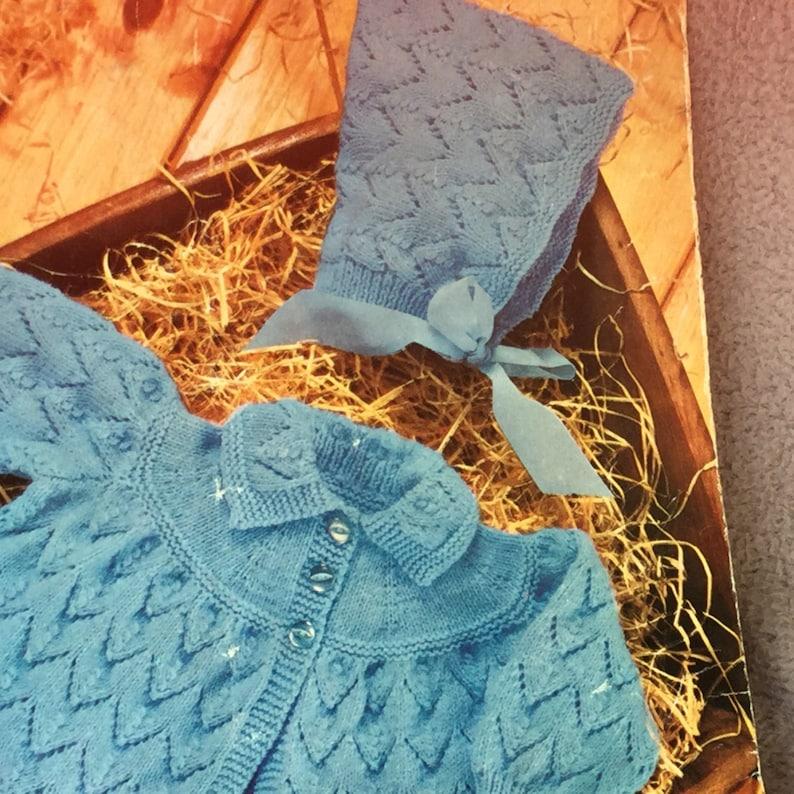 d5b0637be UK EU SELLER Vintage pdf knitting pattern Matinee Jacket with