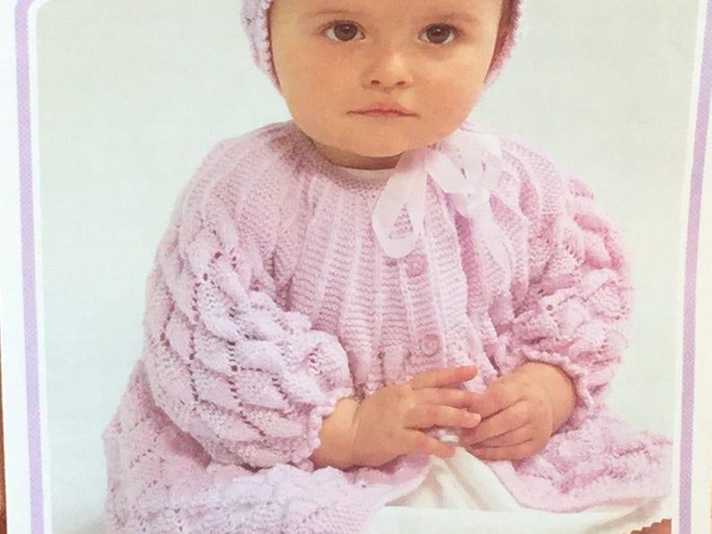 f9412e940 UK EU SELLER Vintage pdf knitting pattern baby girl diamond