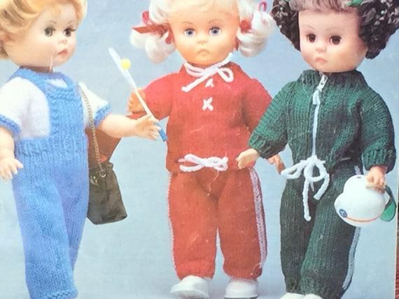 Ukeu Seller Vintage Pdf Dolls Knitting Pattern Tracksuit Etsy
