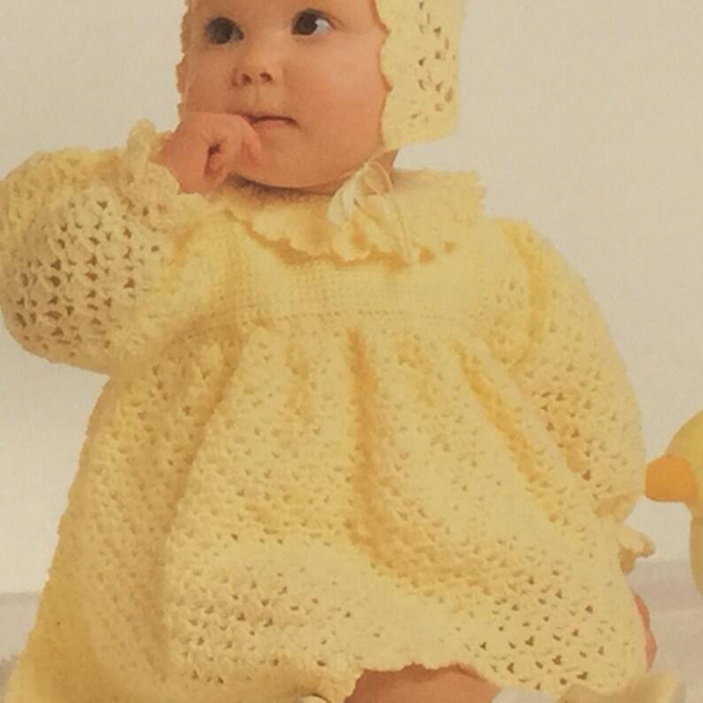 fc5723a30 UK EU SELLER Vintage pdf crochet pattern Baby Dress Patterned