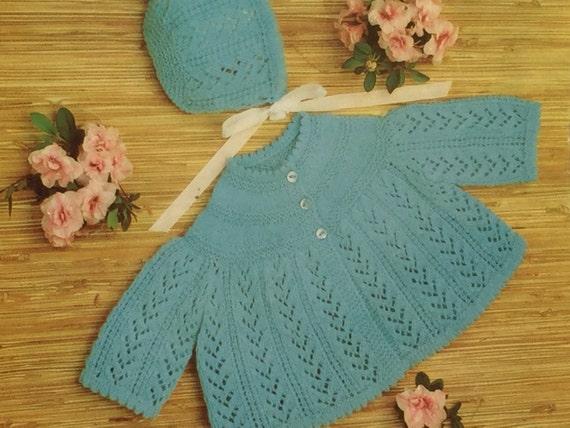 339d3fe14 UK EU SELLER Vintage pdf knitting instructions Matinee coat