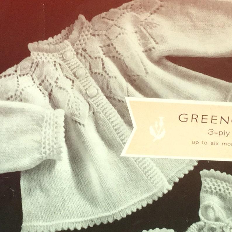 7c2c3c378 UK EU SELLER Vintage pdf baby knitting pattern 3-ply diamond