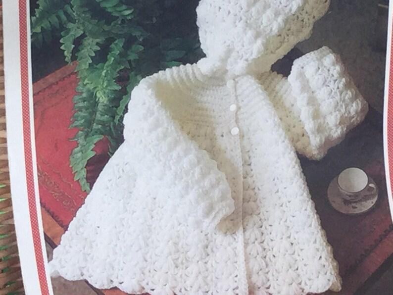 4f6df4ee8 UK EU SELLER Vintage pdf crochet pattern Pretty Hooded Jacket
