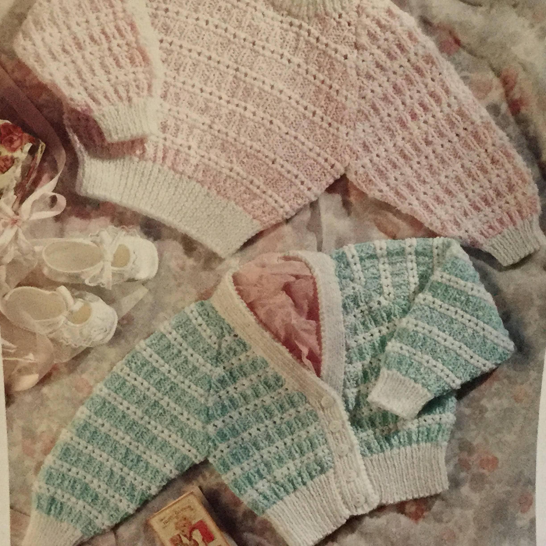 c7d3838cb UK EU SELLER Vintage pdf knitting pattern baby toddler V-neck