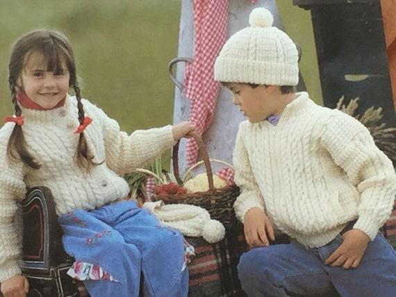 a9ff13a89 UK EU SELLER Vintage pdf knitting pattern Childs Infants Teens