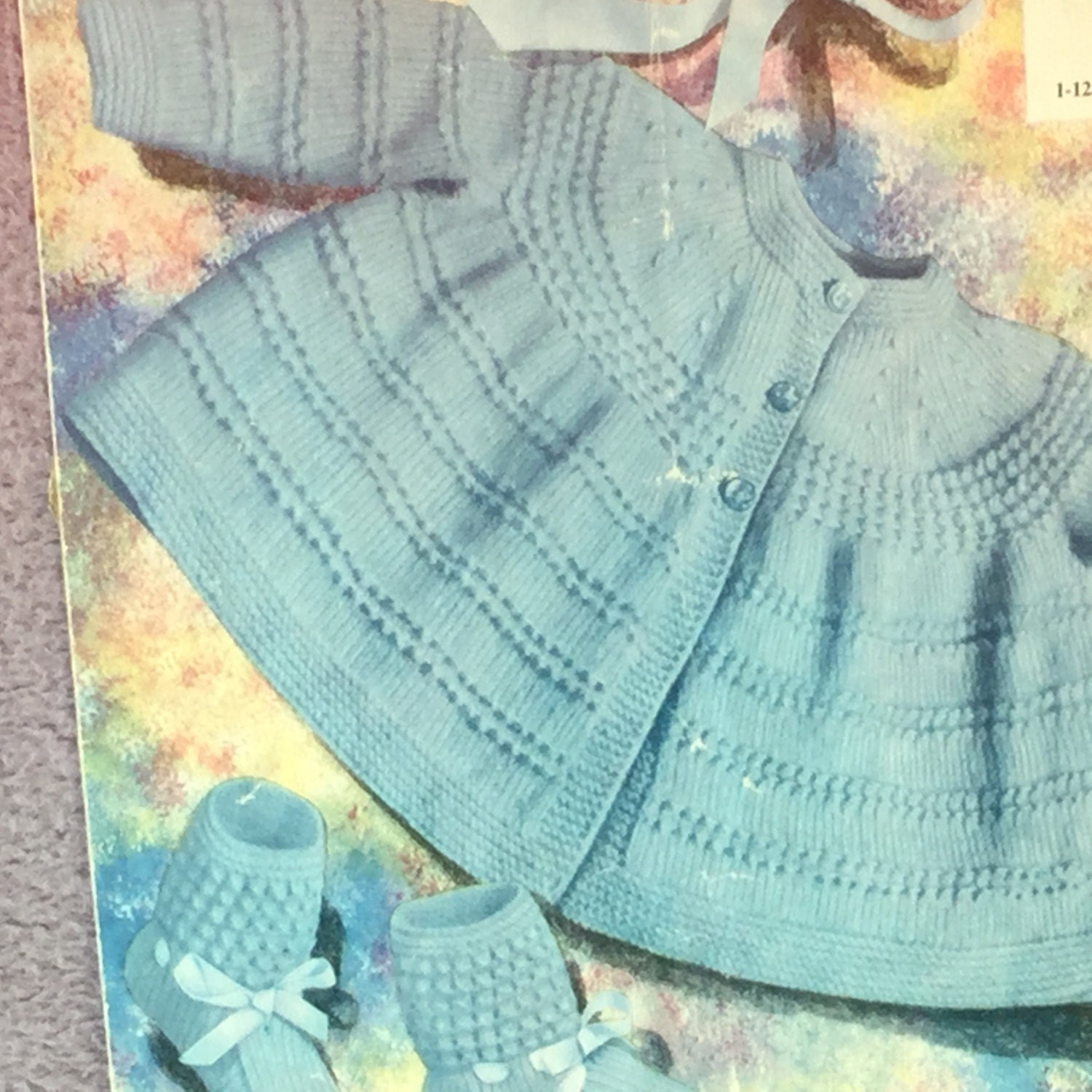 bf34f34c0 UK EU SELLER Vintage 3-ply baby knitting pattern Jacket with