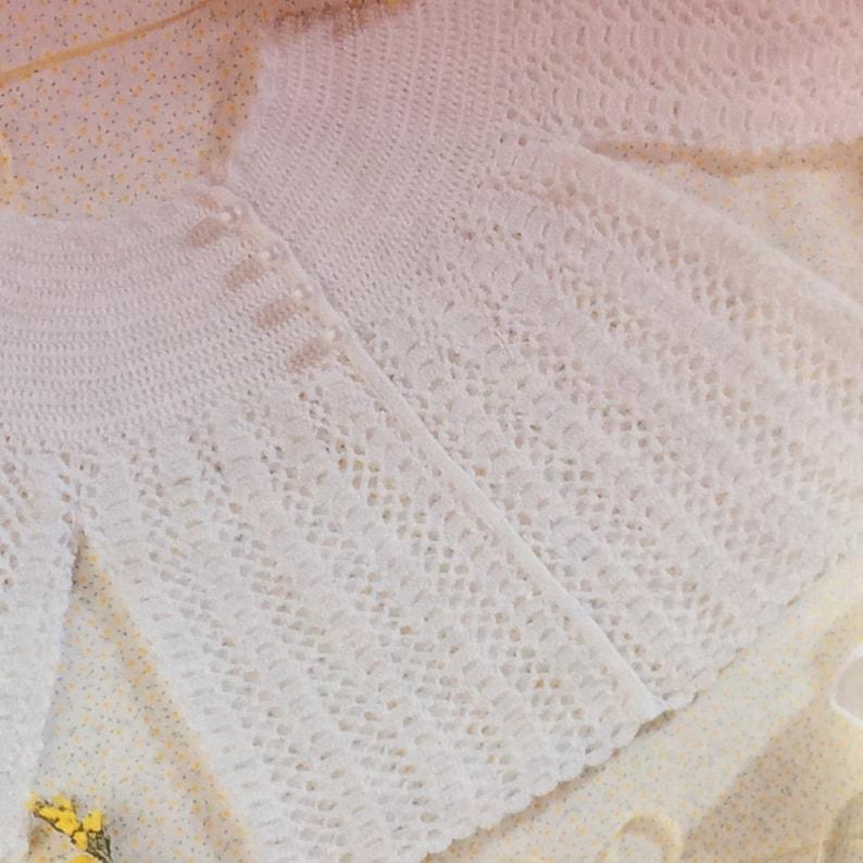 156ccd9c9 UK EU SELLER Vintage pdf Baby Crochet Pattern Matinee Jacket