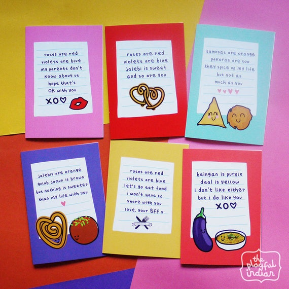 Personalised Roses Are Red Takeaway Eating Out Funny Cute Valentines Day Cards
