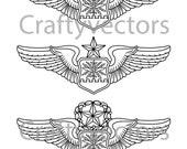 Air Force Navigator Wings Vector File