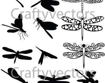 dragonfly silhouette etsy
